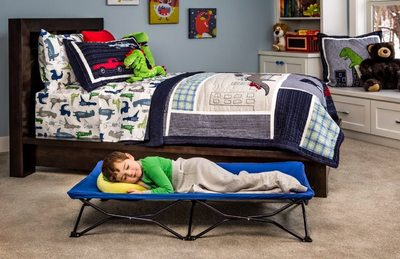 My Cot Portable Toddler Bed, Includes Fitted Sheet, Royal Blue