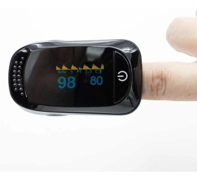 Oxímetro, OLED Blood Oxygen Saturation Spo2 Pulse Rate Alarm Monitor Fingertip Pulse Oximeter