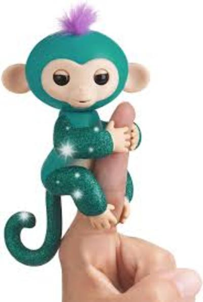 Fingerlings Glitter Monkey - Sugar (Blanco Glitter)